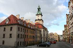 Hirschberg / Jelenia Góra Polen Rathaus auf dem Marktplatz