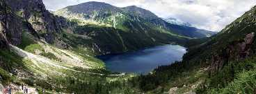 Kleinpolen Polen Meerauge in der Tatra
