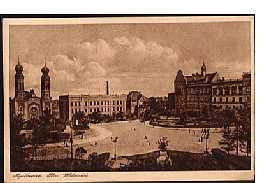 Myslowitz / Myslowice Polen Der Wilhelmsplatz/Pl. Wolności in den 1930er Jahren