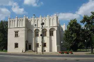 Pabianitz Polen Das Schloss der Krakauer Bischöfe, 1793 und 1807 Sitz der preußischen Verwaltung, seit 1833 Rathaus
