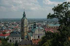 Prömsel / Przemysl Polen Blick vom Schlossberg auf Kathedrale und Altstadt