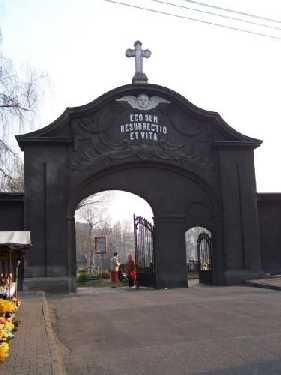 Schwientochlowitz / Swietochlowice Polen Friedhofstor