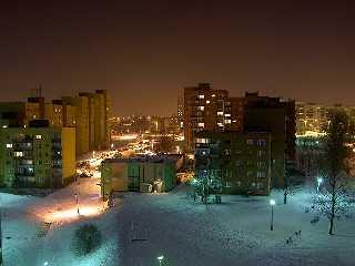 Sosnowitz / Sosnowiec Polen Ortsteil Środula im Winter
