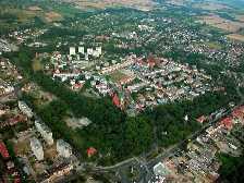 Stargard Szczecinski Polen Luftbild der Altstadt