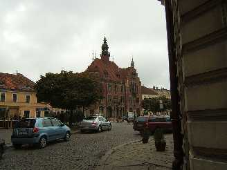 Tarnowskie Góry Polen Marktplatz mit Rathaus