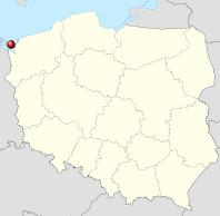 Trzcinice-Inseln Polen Karte